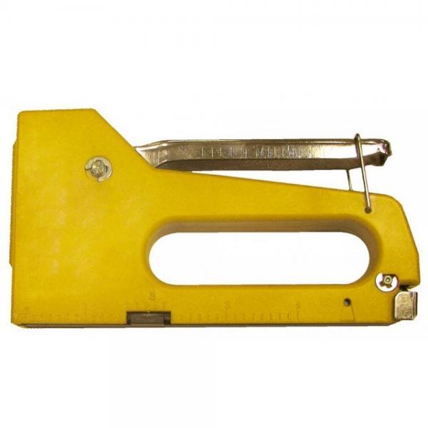 Степлер 4-8 мм. пластмассовый корпус (BIBER)