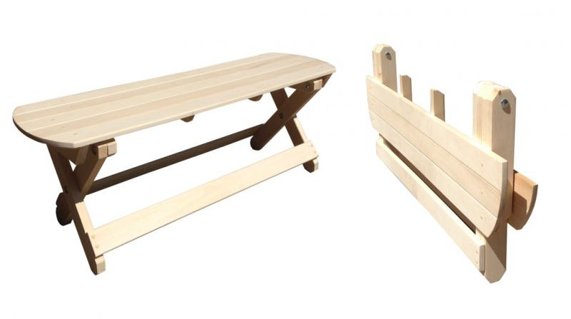 Стол  раскладной 1,2 м (липа)