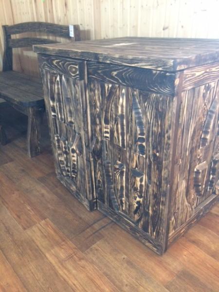 Стол-шкаф кухонный (тёмный) грн.