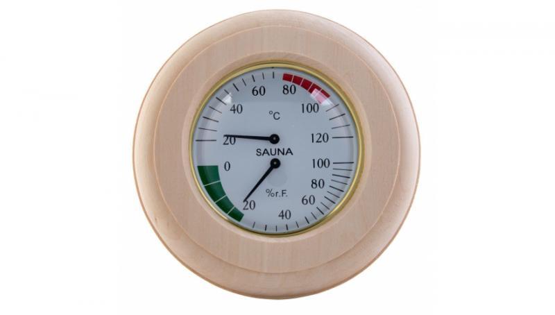 Термогигрометр TH-10L круг(липа)