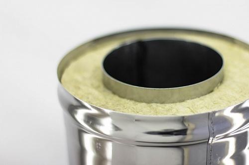 Сэндвич-труба — 0,5 м — 150 / 220 — Нерж 1 мм / Оцинковка