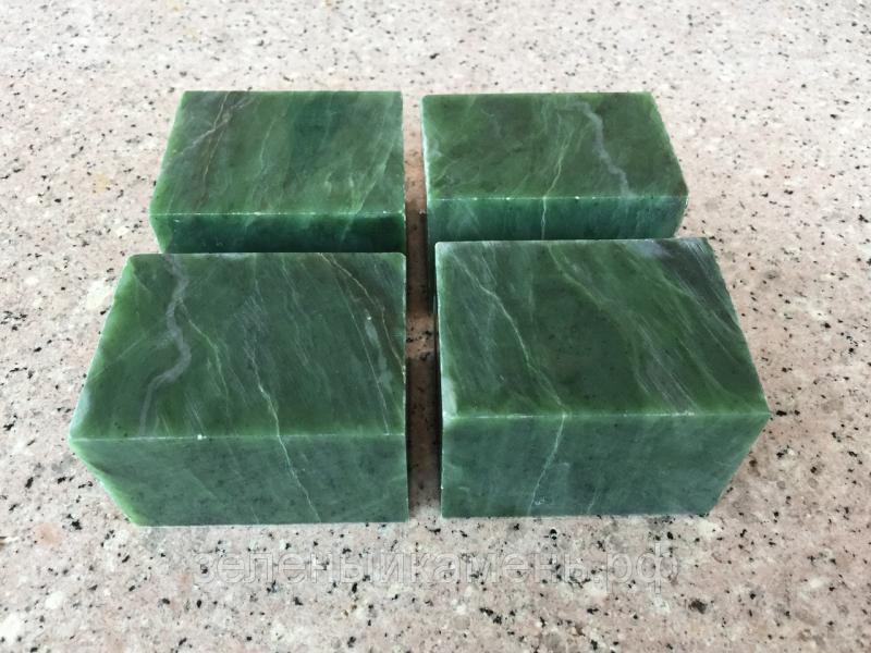 Камни Нефрит кубики ведро 10 кг.