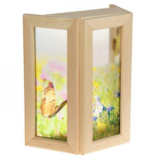 Абажур стекло Бабочки с уф печатью