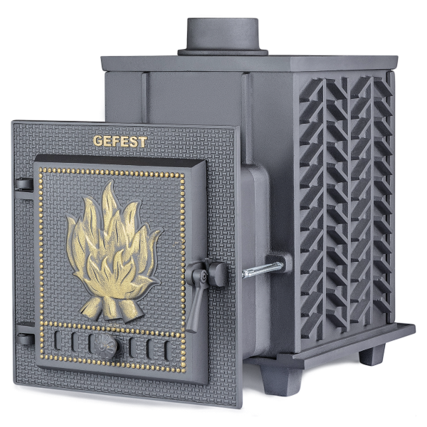 Чугунная печь для бани Гефест (ПБ-04) 15 м3