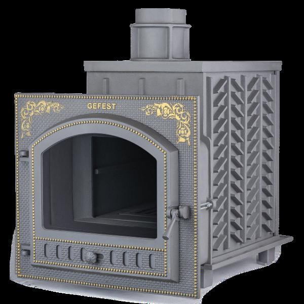 Чугунная печь для бани Гефест ЗК (ПБ-02П-ЗК) 40 м3