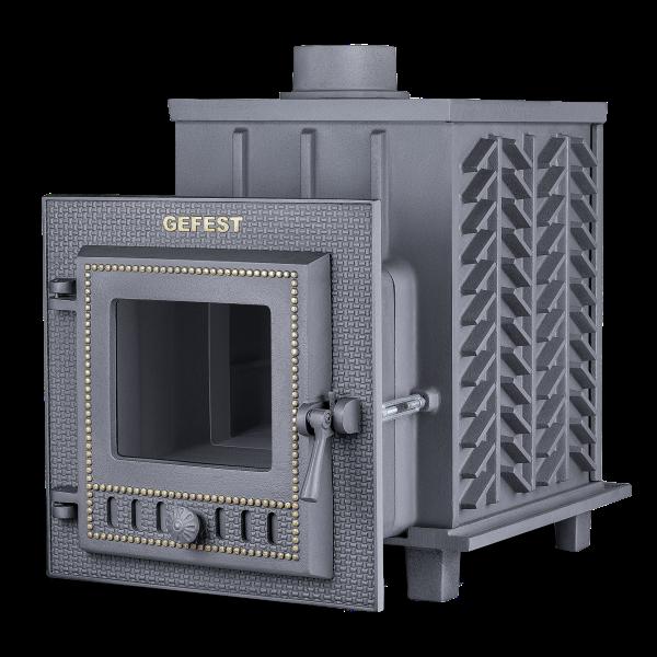 Чугунная печь для бани Гефест ЗК (ПБ-04М-ЗК) 18 м3