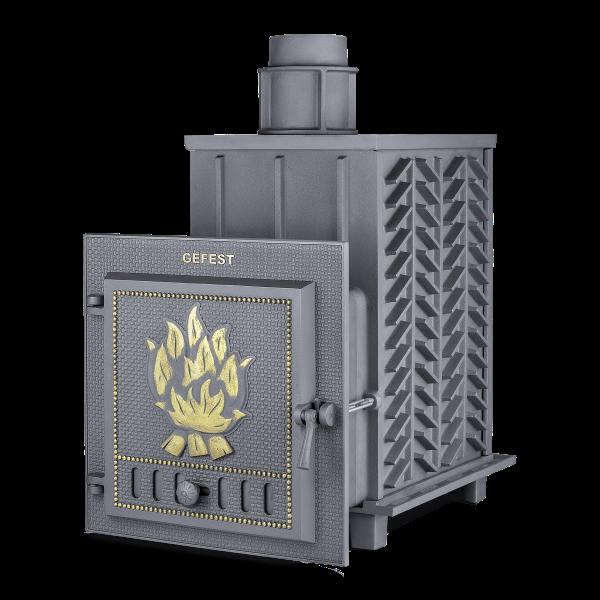 Чугунная печь для бани Гефест ЗК (ПБ-03-ЗК) 28 м3