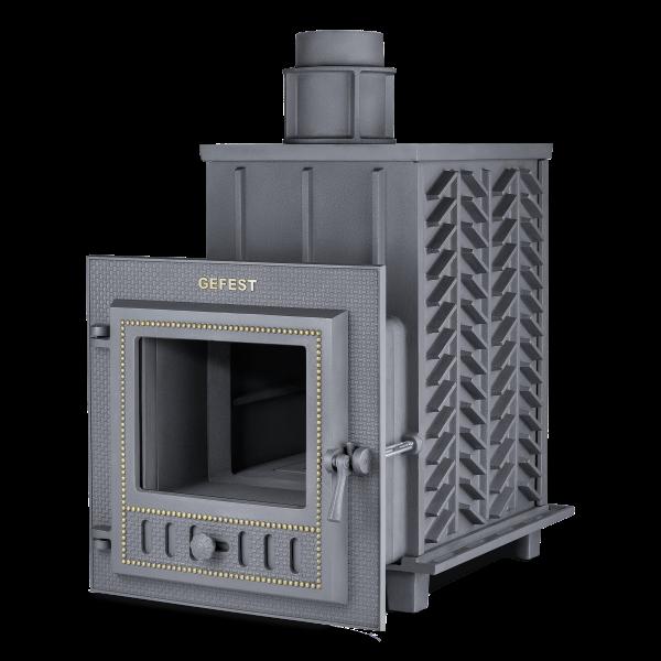 Чугунная печь для бани Гефест ЗК (ПБ-03М-ЗК) 28 м3