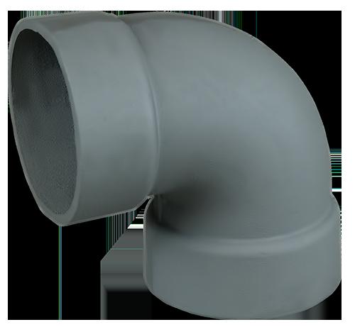 Отвод 90гр чугун ф150