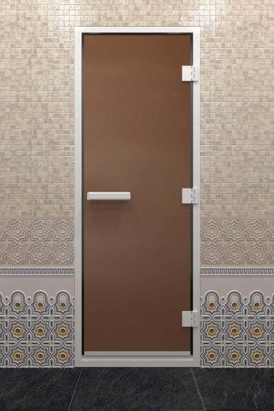Дверь «Хамам Бронза Матовая»