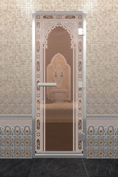 Дверь «Хамам Восточная Арка Бронза»